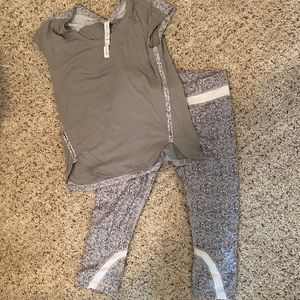 Lululemon crop pants and shirt - size 6